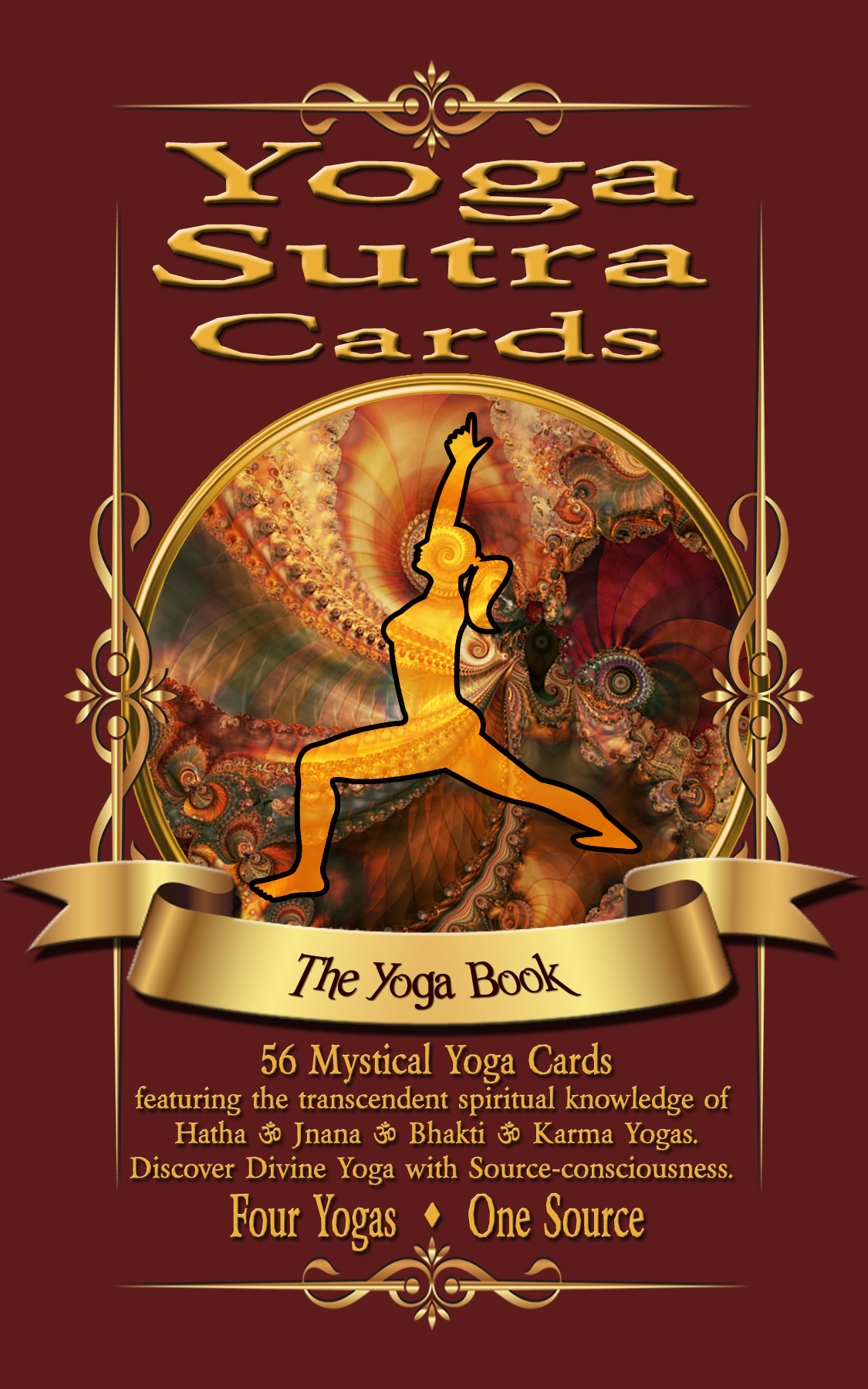 Yoga Sutra Cards Book by Lalla and SamadhiDev. Four kinds of yoga in one deck. Hatha. Jnana. Bhakti. Karma
