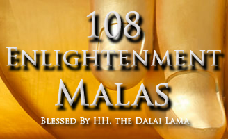 108 Enlightenment Mala: Proceeds benefit the non-profit Samadhi Retreat & Meditation Center