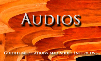 Audio section provides guided meditations and audio interviews for David Browning Samadhi Dev