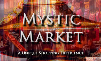 The Mystic Market is a unique shopping experience where you can purchase meditation and incense supplies.