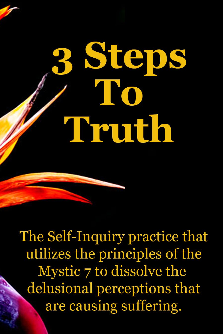 3 Steps to truth are self-inquiry practices that utilize the principles of the mystic 7 to cease suffering