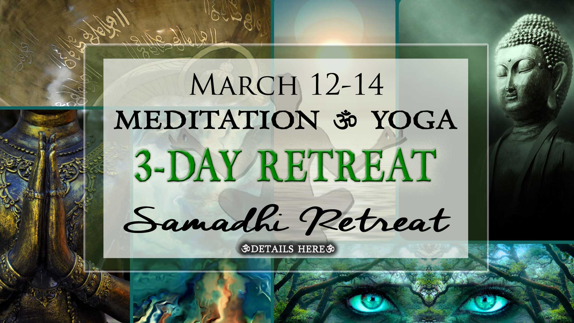Imagine Experience God at a Samadhi Silent Retreat; Discover God Within