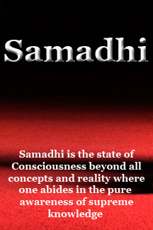 Samadhi is the complete silence of the mind