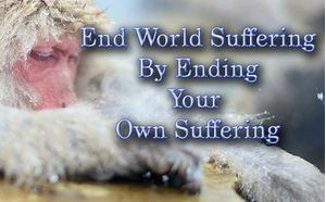 End World Suffering By Ending Your Own Suffering